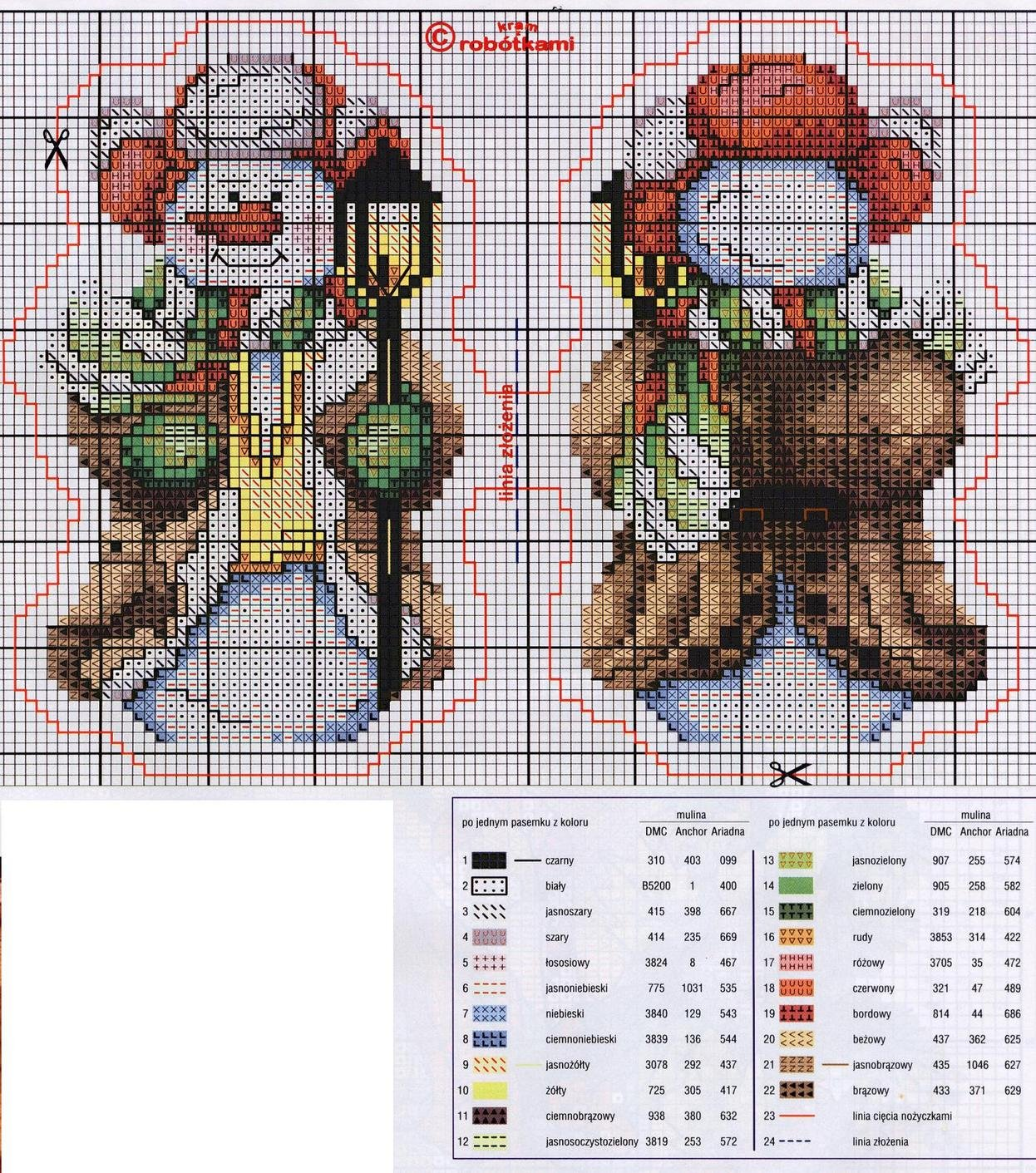 christmas tree ornament crafts: snowman cross stitch kits ...