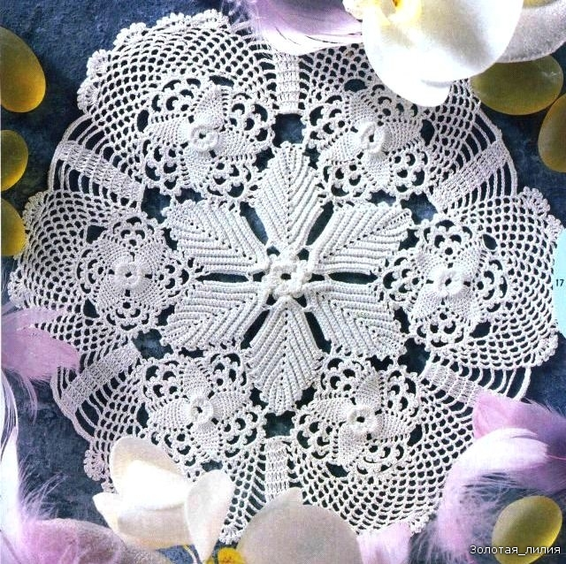 Free Pattern For Crochet Oval Tablecloth Easy Crochet Patterns